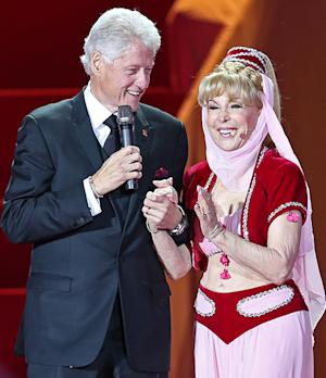 Barbara Eden, 78, Wears I Dream of Jeannie Costume at Life Ball With Bill Clinton: Picture