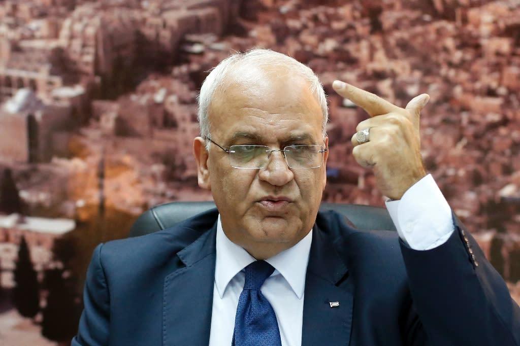 PLO's Erekat blames Israel PM for unrest ahead of US talks