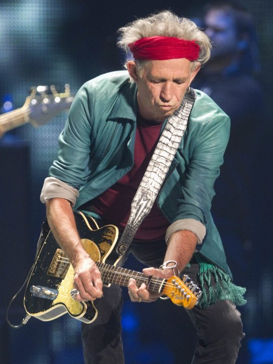 Richards of the Rolling Stones performs at the Air Canada Centre in Toronto.