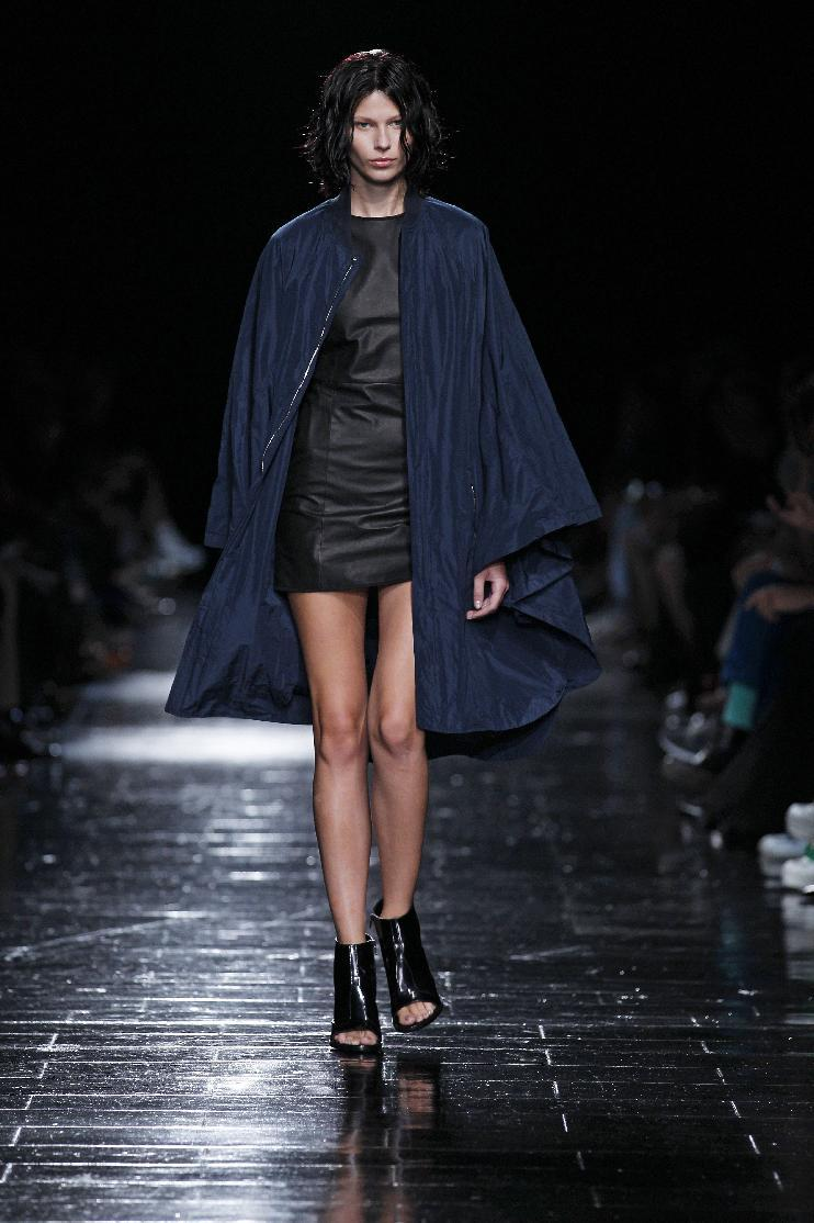 In this photo provided by Theyskens Theory, the Theyskens Theory Spring 2013 collection is modeled during Fashion Week in New York, Monday, Sept. 10, 2012. (AP Photo/Theyskens Theory, Dan & Corina Lecca)