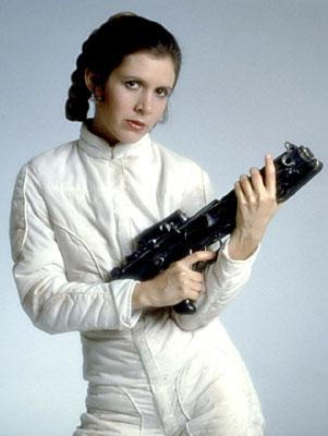 Princess Leia ( Carrie Fisher ) in 20th Century Fox's The Empire Strikes Back