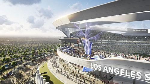 Rendering Reveal: Carson Stadium's Redesign Includes 120-Foot-Tall Tower That Shoots Lightning