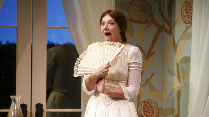 "In this image released by Boneau/Bryan-Brown, Joely Richardson performs in a scene from William Luce's ""The Belle of Amherst"", currently performing off-Broadway at the Westside Theatre in New York. (AP Photo/Boneau/Bryan-Brown, Carol Rosegg)"