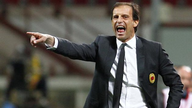 Massimiliano Allegri of AC Milan (AFP)