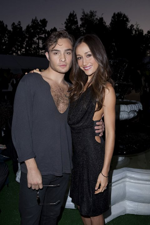 """Gossip Girl's"" Ed Westwick and ""Nikita's"" Maggie Q at the TCA Summer 2010 CBS/The CW/Showtime ""Star Party in the Tent"" on July 28, 2010 in Beverly Hills, California."