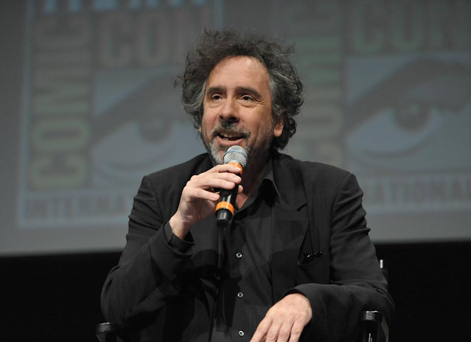 "Tim Burton attends Disney's ""Frankenweenie"" panel at Comic-Con on Thursday, July 12, 2012 in San Diego, Calif. (Photo by John Shearer/Invision/AP)"
