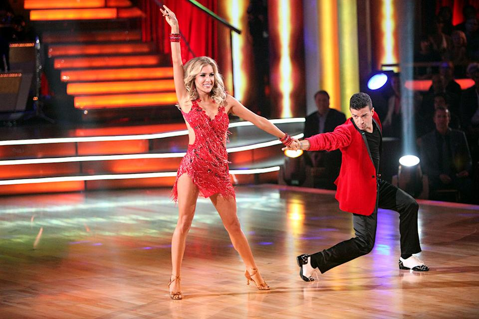 "Mark Ballas and Kristin Cavallari perform on ""Dancing With the Stars."""