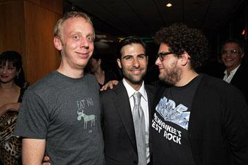 Mike White , Jason Schwartzman and  Jonah Hill at the Los Angeles premiere of Fox Searchlight's The Darjeeling Limited