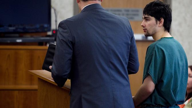 Joshua Petersen makes his initial appearance at the Fourth District Court in Provo Monday, April 15, 2013. Petersen is charged with killing his 5-month-old son.   (AP Photo/The Daily Herald, Mark Johnston, Pool) MARK JOHNSTON/Daily Herald
