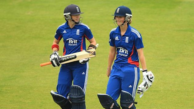 England's Arran Brindle and Charlotte Edwards (PA Photos)