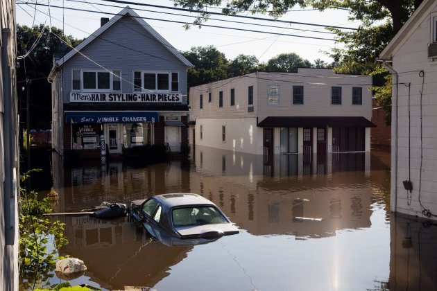 Flood waters remain several feet deep in Wayne, New Jersey