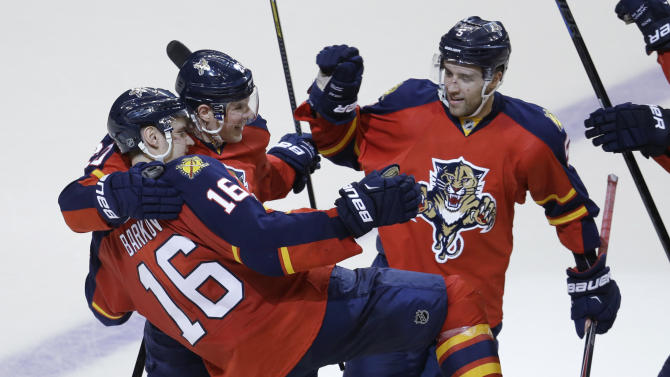 Barkov's SO goal lifts Panthers over Penguins