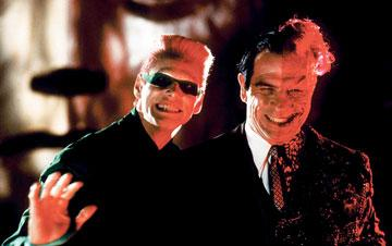 Jim Carrey as The Riddler and Tommy Lee Jones as Two-Face in Warner Bros. Pictures' Batman Forever