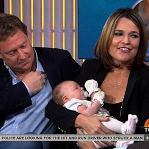 "Savannah Guthrie Brings New Baby on ""Today"""