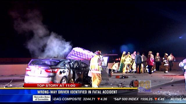 Wrong-way driver identified in fatal accident
