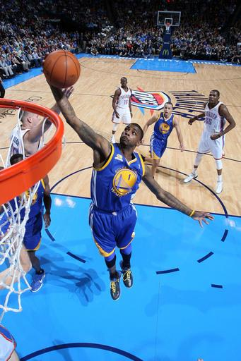 Harden, Durant lead Thunder past Warriors 110-87