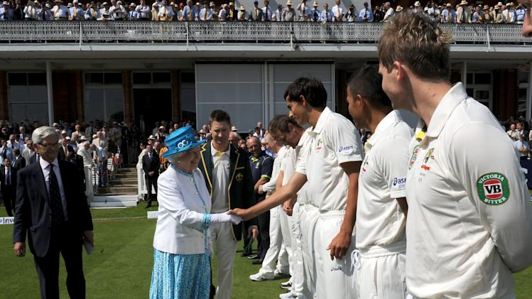 Queen Elizabeth II Attends Day One Of The 2nd Investec Ashes Test Between England & Australia