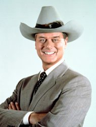 This 1981 file photo provided by CBS shows Larry Hagman in character as J.R. Ewing in the television series &quot;Dallas.&quot; Actor Larry Hagman, who for more than a decade played villainous patriarch JR Ewing in the TV soap Dallas, has died at the age of 81, his family said Saturday Nov. 24, 2012. (AP Photo/CBS, file)