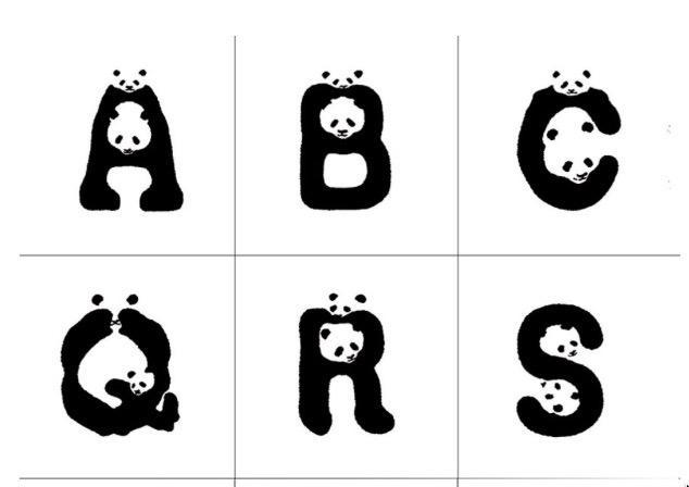 This font could help raise awareness of endangered pandas