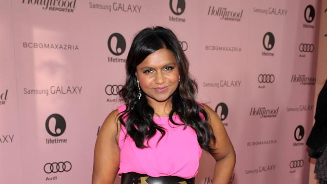 IMAGE DISTRIBUTED FOR THE HOLLYWOOD REPORTER - Actress Mindy Kaling arrives at The Hollywood Reporter's 21st Annual Women in Entertainment Power 100 breakfast presented by Lifetime on Wednesday, Dec. 5, 2012 in Beverly Hills, Calif.  (Photo by John Shearer/Invision for The Hollywood Reporter/AP Images)