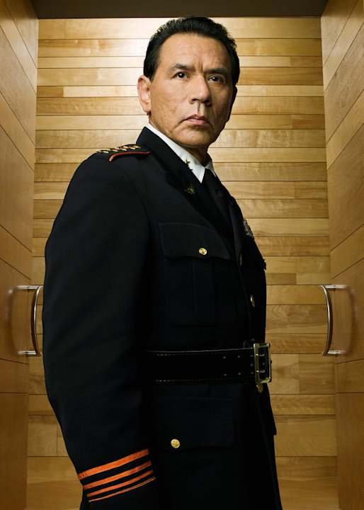 Wes Studi stars as General Linus Abner in Kings.