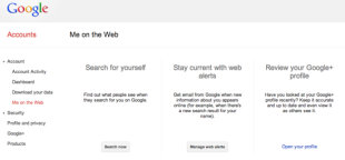 How to Use Google to Check Your Reputation Online image Google Me on the Web