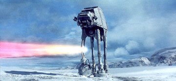 An AT-AT Walker in 20th Century Fox's The Empire Strikes Back