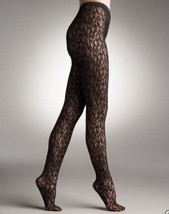 Wolford lace tights, $150