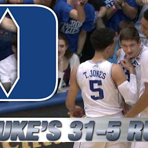 Duke Explodes to 31-5 Lead to Start Game vs Wake Forest