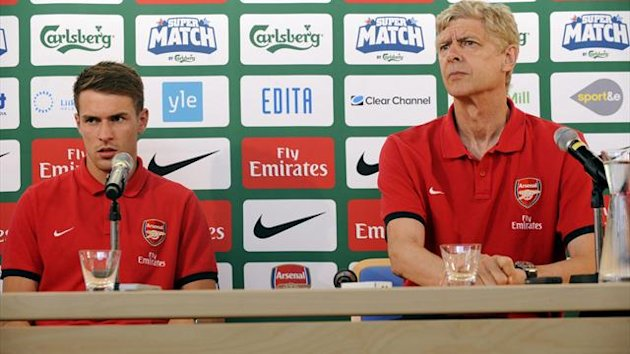 Aaron Ramsey and Arsene Wenger Reuters