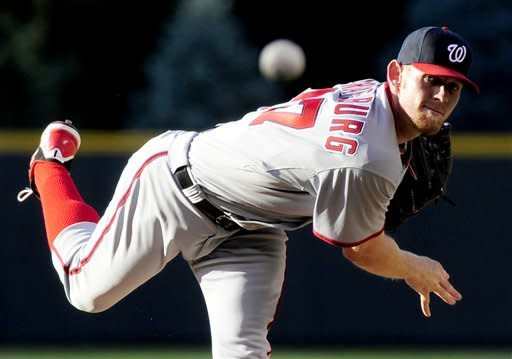 Strasburg's streak ends as Nats lose to Rockies