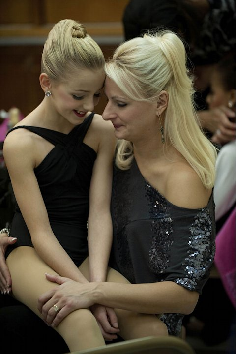 Chloe and her mom Christy relax backstage after the competition in the second season of &quot;Dance Moms.&quot; 