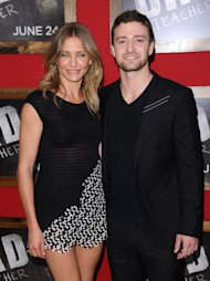 "Actors Justin Timberlake and Cameron Diaz attend the premiere of ""Bad Teacher"" at The Ziegfeld Theater, in New York, on Monday, June 20, 2011. (AP Photo/Peter Kramer)"