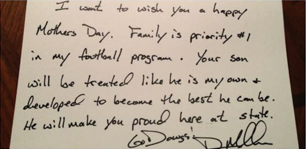 Mississippi State coach Dan Mullen's letter to a recruit's mother &#x2014; Twitter