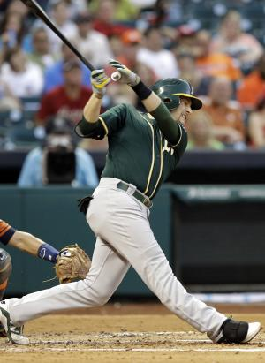 A's down Astros again 12-5