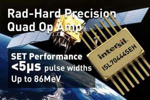 Intersil's New Precision 40V 19MHz Quad Rail-to-Rail Op Amp Features Low Power, Exceptional Radiation Hardness and Electrical Performance