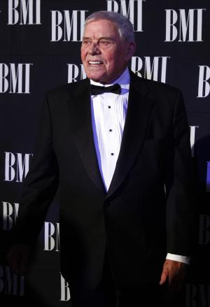 Tom T. Hall arrives at the 60th Annual BMI Country Awards on Tuesday Oct. 30, 2012, in Nashville, Tenn. (Photo by Wade Payne/Invision/AP)