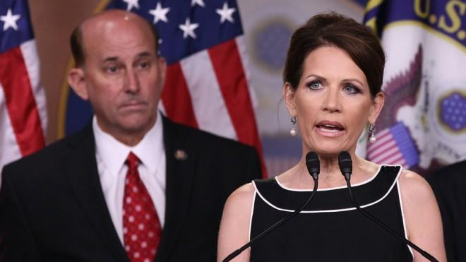 Michele Bachmann's exit just makes room for other Tea Partiers, including Louis Gohmert (left).