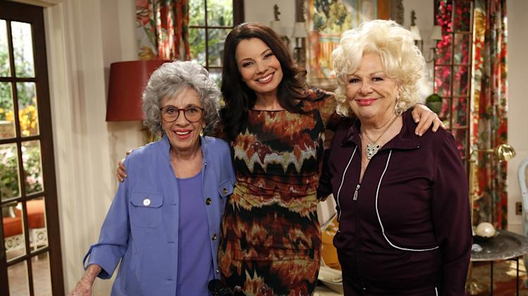 "Ann Guilbert, Fran Drescher, and Renee Taylor in ""Happily Divorced."""
