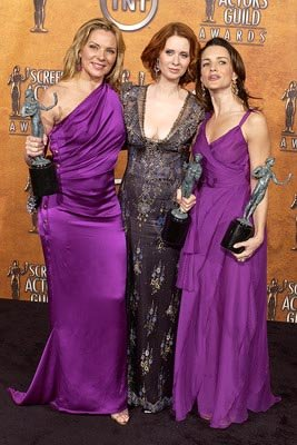 Kim Cattrall, Cynthia Nixon and Kristin Davis of &quot;Sex and the City&quot;
