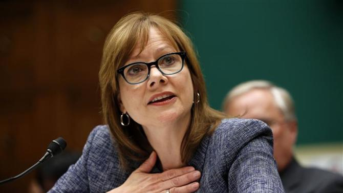 GM Chief Executive Officer Barra testifies during a House Energy and Commerce hearing on Capitol Hill in Washington