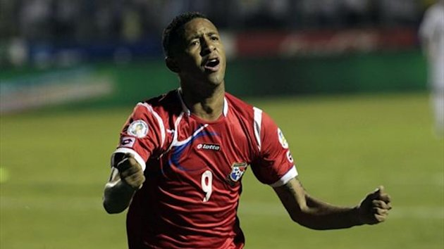 Panama's Gabriel Torres celebrates after scoring against Honduras in World Cup qualifying (Reuters)