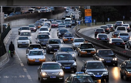 <p>Rush hour traffic in pictured in Beijing. The World Trade Organization has established a panel of experts to investigate a complaint by the United States over Chinese duties on auto imports.</p>