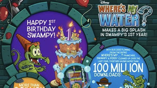 Bonus Where's My Water? content to celebrate game's first birthday. Gaming, Apps, Disney, iPad apps, iPhone apps, Android apps, Where's My Water? 0