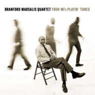 "This CD cover image released by Marsalis Music shows the latest release by Branford Marsalis Quartet, ""Four MF's Playin' Tunes."" (AP Photo/Marsalis Music)"