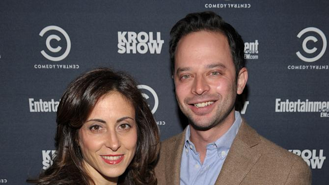 """Entertainment Weekly Associate Publisher, Advertising Sales Melissa Mattiace, left, and actor/comedian Nick Kroll attend exclusive screening of Comedy Central's """"Kroll Show"""" hosted by Entertainment Weekly on Tuesday, January 15, 2013 at LA's Silent Movie Theatre in Los Angeles. (Photo by John Shearer/Invision for Entertainment Weekly/AP Images)"""