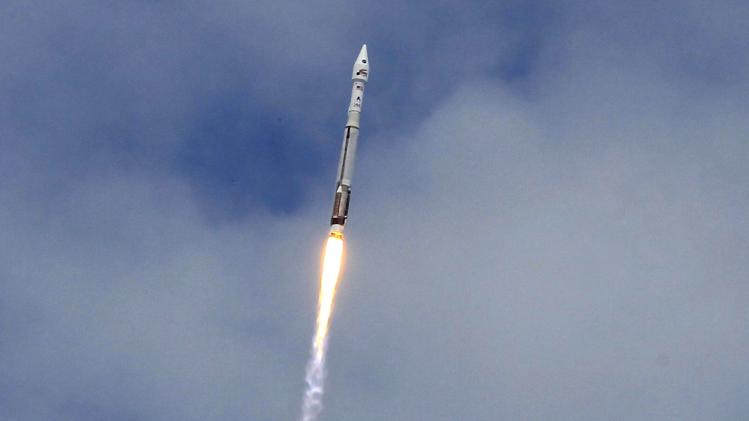 Atlas 5 United Launch Alliance rocket lifts off from the Cape Canaveral Air Force Station carrying NASA's Mars Atmosphere and Volatile Evolution spacecraft in Cape Canaveral
