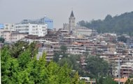 This file photo shows a general view of a neighbourhood in Seoul. Standard & Poor's upgraded South Korea's sovereign credit rating from A to A-plus on Friday, citing stability on the Korean peninsula and the resilience of Asia's fourth-largest economy