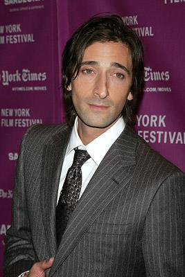 Adrien Brody at the New York Film Festival premiere of Fox Searchlight's The Darjeeling Limited
