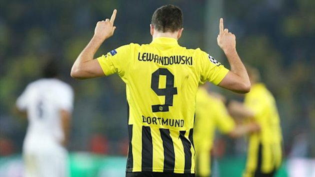 2012-2013 C1 Borussia Dortmund-Real Madrid Lewandowski